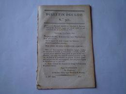 Napoléon: Entretien Des Temples & Logement Des Pasteurs; Lois Ordre Judiciaire Dans Les états De Parme Et De Plaisance - Wetten & Decreten