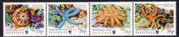 British Indian Ocean Territory BIOT 2001 Sea Stars Marine Life Strip Of 4, MNH, SG 253/6 (A) - Brits Indische Oceaanterritorium