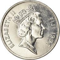 Monnaie, Fiji, Elizabeth II, 20 Cents, 1994, SUP, Nickel Plated Steel, KM:53a - Fiji