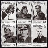 British Indian Ocean Territory BIOT 2010 Battle Of Britain Aces Set Of 6, MNH, SG 431/6 (A) - Territorio Britannico Dell'Oceano Indiano