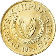 Monnaie, Chypre, 2 Cents, 1994, TTB+, Nickel-brass, KM:54.3 - Cyprus