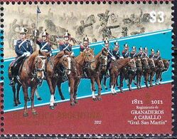 Argentina 2012 Horses Grenadier Mounted Regiment Grail San Martin 1v MNH - Argentinien