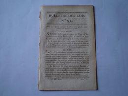 Napoléon:Peines Encourues Pour Menaces D'incendie; Collèges électoraux:modèles D'atteastaion De Carte D'électeur .... - Wetten & Decreten