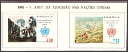 Angola 1982 -  The 5th Anniversary Of The Admission To United Nations - MLH - - Angola