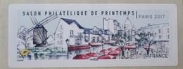 """2531 - TIMBRE DE DISTRIBUTION - SALON PHILATELIQUE DE PRINTEMPS / PARIS - VIGNETTE LISA 2 """" MONTMARTRE """" 0,85 € - 2010-... Illustrated Franking Labels"""