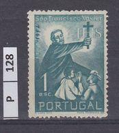 PORTOGALLO     1952San Francesco Saverio 1 E Usato - Used Stamps