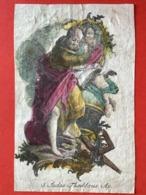 GRANDE Image Pieuse - 18ième - GRAVURE - Augsburg ? -  S. JUDAS THADDEUS - 12.5 Cm X 8 Cm - Andachtsbilder