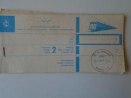 BA26.9 Railway Ticket Hungary MÁV - Passau- Rüsselsheim (retour)  / Passau Budapest  Via Wien  Hegyeshalom 1973 - Chemins De Fer