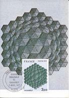 Carte Maximum Fdc, France, 1977 N°1924 Yt, Tableau De Vasarely, Hommage à L'exagone - 1970-79