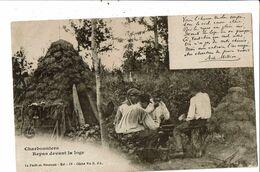 CPA-Carte Postale -France-La Foret En Nivernais Charbonniers Devant La Loge -1905 -VM19700 - Chateau Chinon