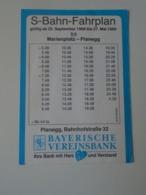 BA26.12 Railway S-BAHN -Fahrplan - Timetable - 1989 - Planegg- Marienplatz - Europe