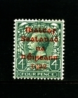 IRELAND/EIRE - 1922  4 D.  OVERPRINTED DOLLARD IN RED  MINT  SG 6a - Nuovi