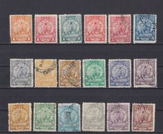 PARAGUAY 1905, Sc #91-109, Part Set, NG/MH/Used - Paraguay