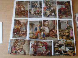 BA24.1 Der Markt Von Neapel- Pankreon  11 Diapositives  (10 X 14,5 Cm) IL MERCATO DI NAPOLI - ITALIA - Diapositives (slides)