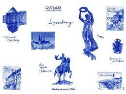 """FRANCE 2003   Epreuve    Gravure    Document De La Poste    Bloc  LES CAPITALES EUROPEENNES  """" LUXEMBOURG """"   BF64 - Documents Of Postal Services"""