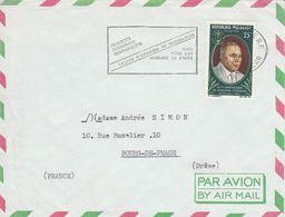 MADAGASCAR LETTRE POUR LA FRANCE 1966 - Lettres & Documents