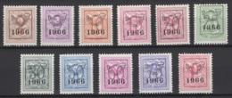 Préo COB N° PRE769/79 **, De La Série 59 . 1966, MNH, Neuf. Cote COB 2020 : 7,50 € - Typo Precancels 1951-80 (Figure On Lion)