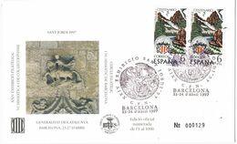 37160. Carta Exposicion BARCELONA 1997. SANT JORDI 97, Numerada Cercle - 1931-Hoy: 2ª República - ... Juan Carlos I