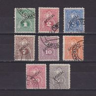 PARAGUAY 1892, Sc #O33-O40, Official Stamps, Used - Paraguay