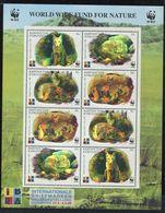 269 - KIRGHIZISTAN 1999 - Mi 172/75 X 2 En Feuille - Renard WWF Hologramme 3D - Neuf **(MNH) Sans Trace De Charniere - Kyrgyzstan