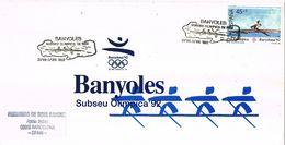 37166. Rara Tarjeta BANYOLES (Bañolas) Gerona 1992. Subsede Olimpica. REMO, Juegos Olimpicos - 1931-Hoy: 2ª República - ... Juan Carlos I