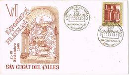 37167. Carta SAN CUGAT Del Valles (Barcelona) 1965, Exposicion Filetalica. Tiara Papal - 1931-Heute: 2. Rep. - ... Juan Carlos I