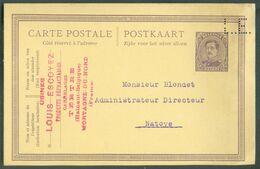 E.P. Carte 15 Centimes EMission 1915 Avec Perforation L.E. ((Louis Escoyer) à Tertre - 15935 - Perfins