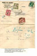 REF1501/ TP 194 S/Doc.Imprimé C.Seneffe 18/4/1924 > Tourcoing Taxé TTx 31-32 C.Tourcoing Nord Refusé Retour Taxé TTx 35 - Portomarken