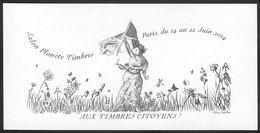 FRANCE 2014    Epreuve Couleurs    Document De La Poste    Bloc Gommé  Sans Valeur D'affranchissement   SALON PLANETE - Documents Of Postal Services