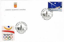 37169. Tarjeta BARCELONA 1992. Sede Olimpica, INAUGURACION Comite Olimpico Español - 1931-Hoy: 2ª República - ... Juan Carlos I