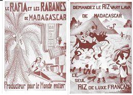 GF1482 - AFFICHETTES 11.5 X 16.5 CM - PRODUITS DE MADAGASCAR - VANILLE CAFE RIZ RAFIA RABANES - Alimentare