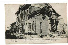 CPA-Carte Postale Belgique-Nieuport La Gare Après Le Bombardement 1914-1915--VM19711 - Nieuwpoort