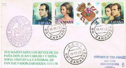 37172. Carta ZARAGOZA 1998. Marca Cabildo Metropolitano. Visita Reyes A La Catedral San Salvador - 1931-Hoy: 2ª República - ... Juan Carlos I