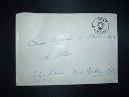 LETTRE OBL. Tiretée 4-7 1966 SPAY SARTHE (72) - Marcophilie (Lettres)