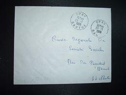 LETTRE OBL. Tiretée 26-11 1966 SPAY SARTHE (72) - Marcophilie (Lettres)