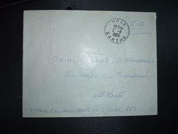 LETTRE OBL. Tiretée 2-11 1965 SPAY SARTHE (72) - Marcophilie (Lettres)