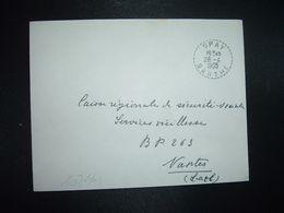 LETTRE OBL. Tiretée 28-4 1965 SPAY SARTHE (72) - Marcophilie (Lettres)