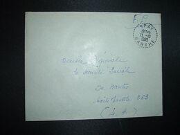 LETTRE OBL. Tiretée 13-10 1965 SPAY SARTHE (72) - Marcophilie (Lettres)