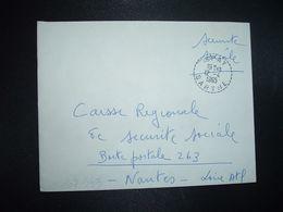 LETTRE OBL. Tiretée 12-4 1965 SPAY SARTHE (72) - Marcophilie (Lettres)