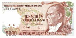 TURKEY P. 198 5000 L 1990 UNC - Turquie