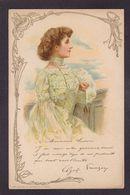 CPA Publicité Parfum Crème Simon FEMME Femme Girl Women Art Nouveau Non Circulé - Advertising