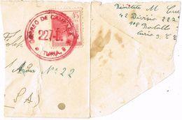 Fragmento De Carta 42 Division 227 Batallon, Base TURIA, Guerra Civil, Correo Campaña, Num 752 º - 1931-Aujourd'hui: II. République - ....Juan Carlos I