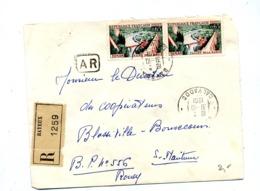 Lettre Recommandée Bayeux Sur Dinan - Marcophilie (Lettres)
