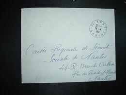 LETTRE OBL. Tiretée 14-4 1967 72 SPAY SARTHE - Marcophilie (Lettres)