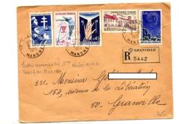 Lettre Recommandée Grandville Sur Camps Observatoire Chancelade Perche - Marcophilie (Lettres)