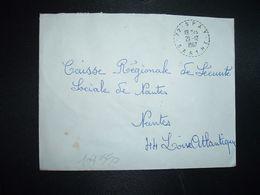 LETTRE OBL. Tiretée 21-12 1967 72 SPAY SARTHE - Marcophilie (Lettres)