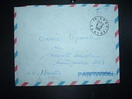 LETTRE OBL. Tiretée 9-6 1969 72 SPAY SARTHE - Marcophilie (Lettres)