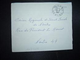 LETTRE OBL. Tiretée 26-7 1967 72 SPAY SARTHE - Marcophilie (Lettres)