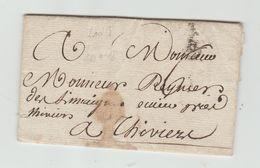 BORDEAUX : B Couronné, Len 18, + TM 6 / LAC De 1784 > Thiviers - Marcophilie (Lettres)