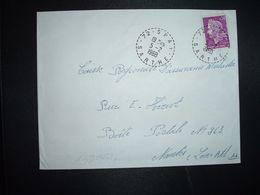 LETTRE TP M. DE CHEFFER 0,30 OBL. Tiretée 5-2 1968 72 SPAY SARTHE - Marcophilie (Lettres)